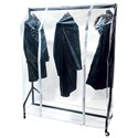 4ft wide Clear Rail Cover - Single Zip
